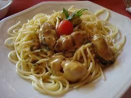 Espaguete com Ostras